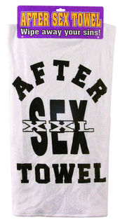 After Sex Towel W/Header Card